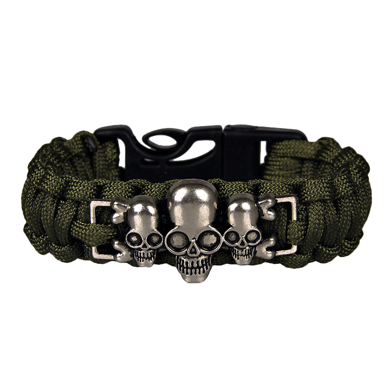 Vintage Skull Emergency Survival Paracord Wristband