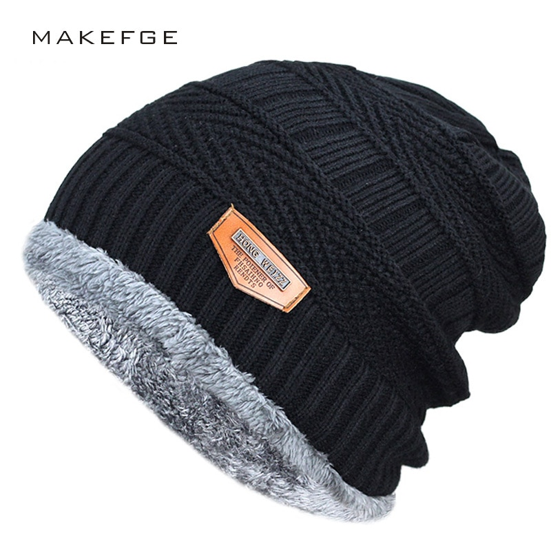 Men's Winter Fashion Hat, Warm and Soft Knitted Beanies