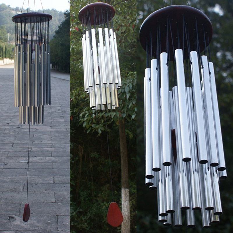 27 Tubes 5 Bells Wind Chimes Outdoor Living  Yard Garden Tubes Bells Wind Chimes